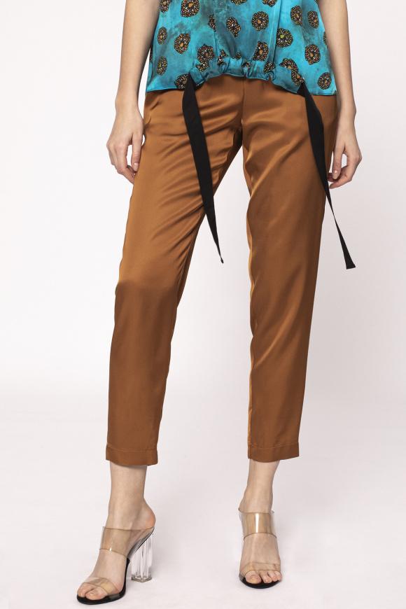 Drawstring waist trousers