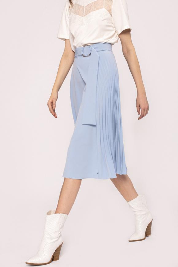 Waist detail pleated skirt