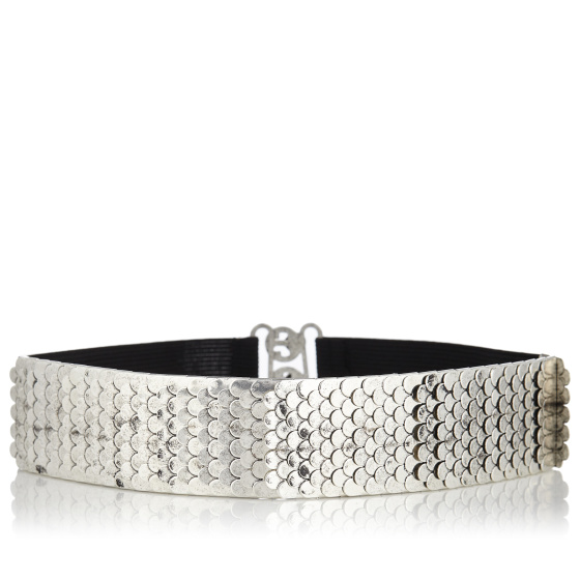 Metallic applique elastic belt