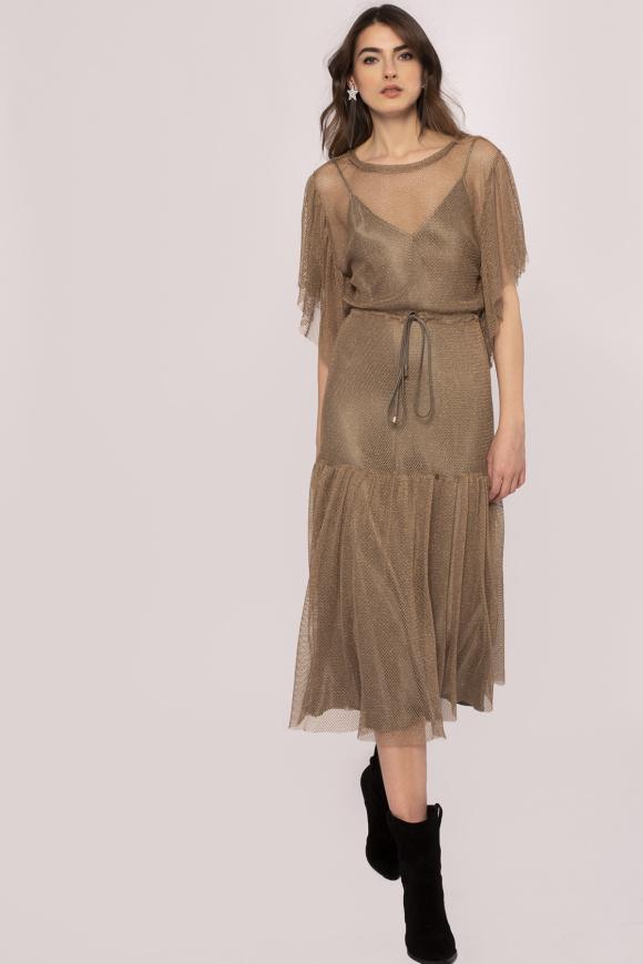 Double layer mesh dress