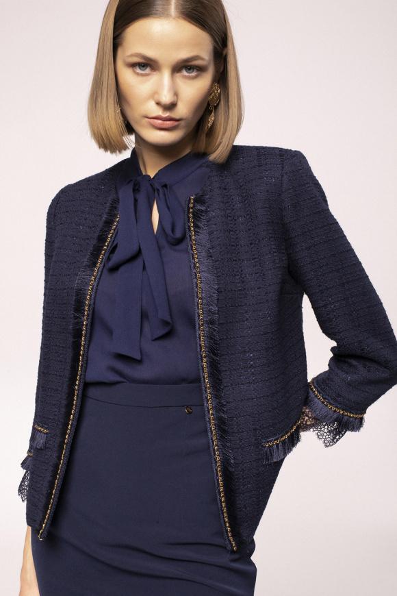 Lace details jacket