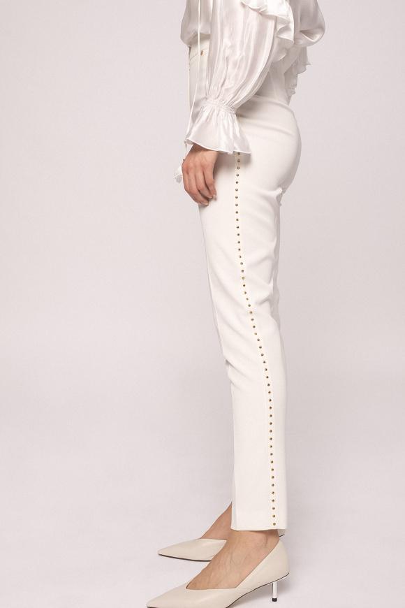 Metallic applique pants
