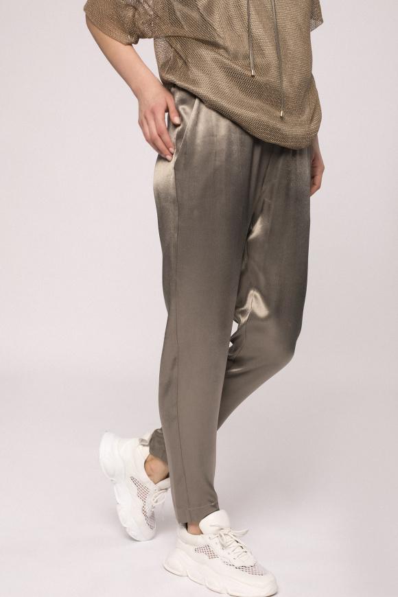 Satin effect jogger pants