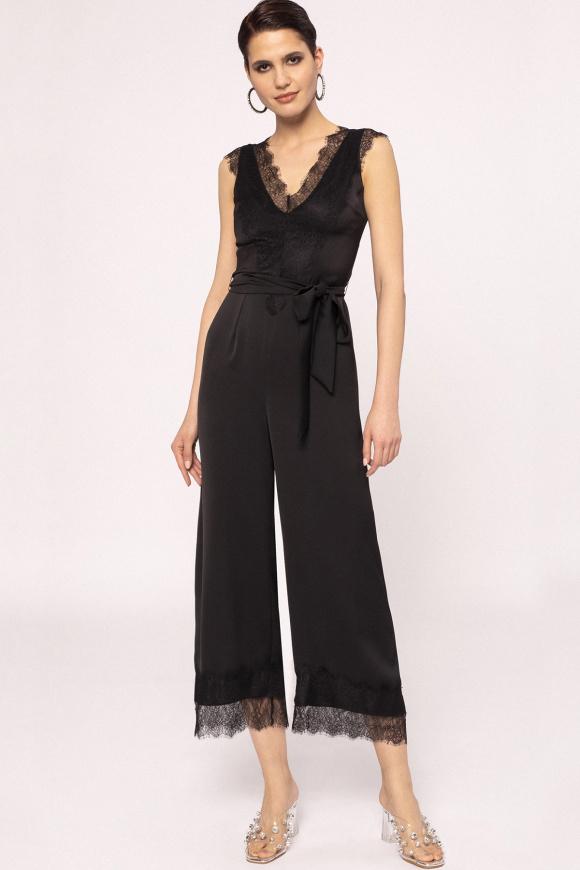 Lace applique jumpsuit