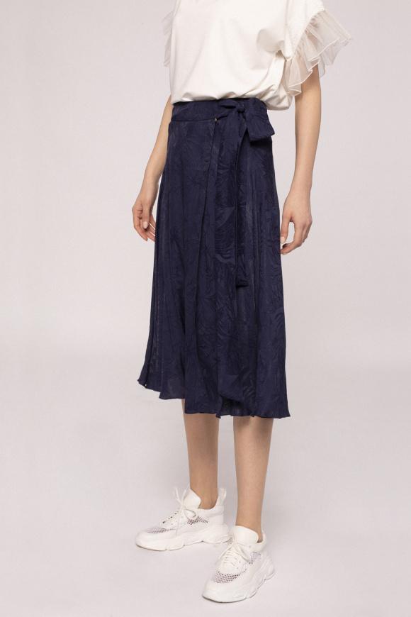 Satin effect viscose skirt