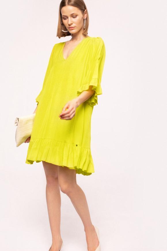 Ruffle details viscose dress