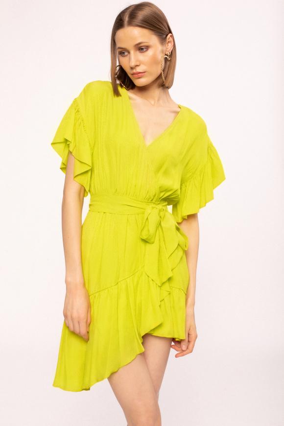 Asymmetrical design viscose dress