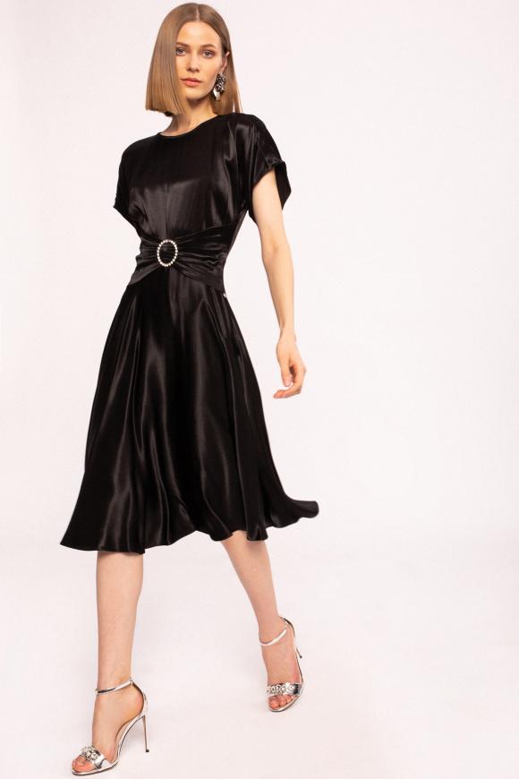 Satin effect viscose dress
