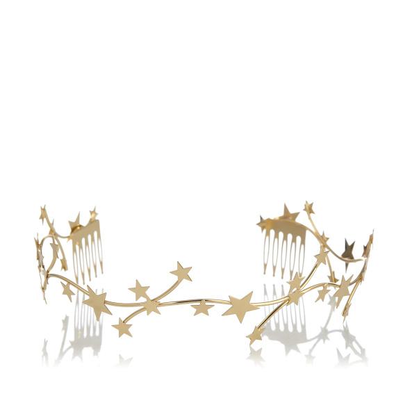 Gold metal star headband