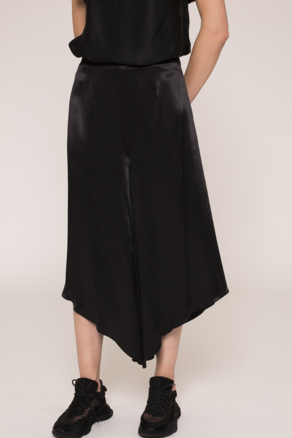 Satin efect culottes pants