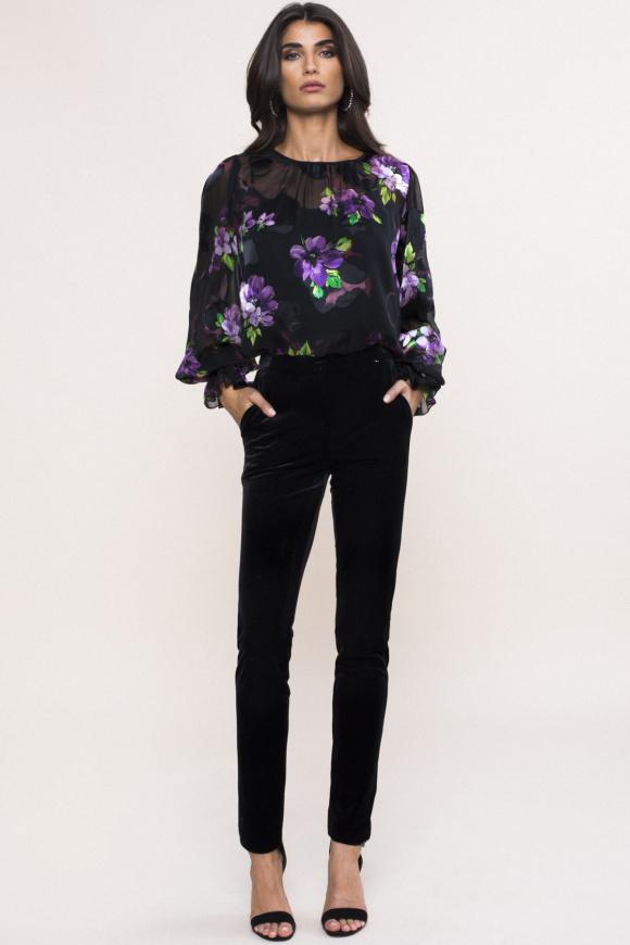 Velvet tailored trousers