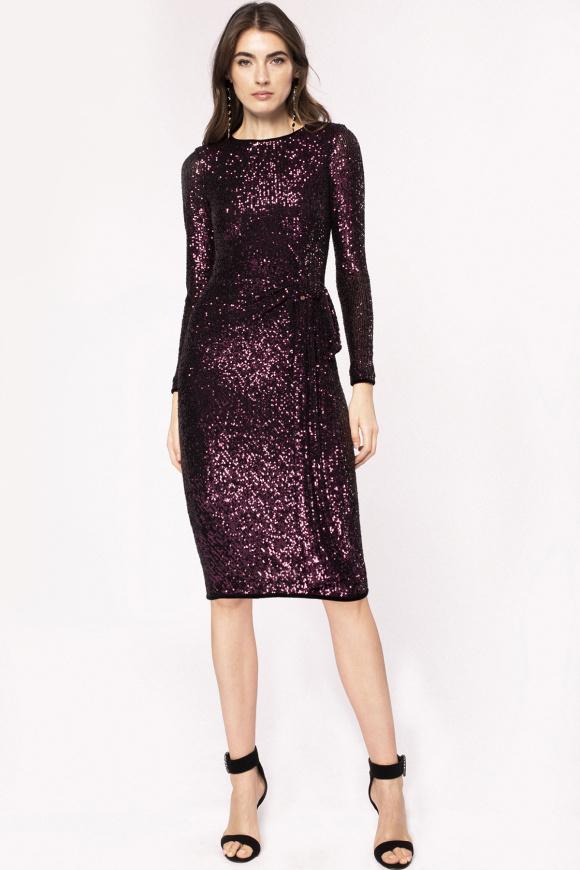 Waist detail sequinned dress