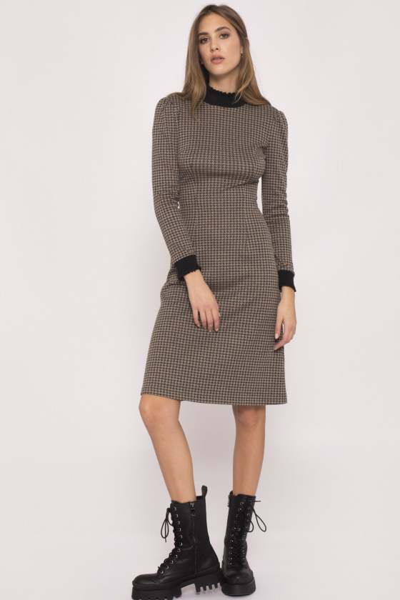 Turtleneck printed dress