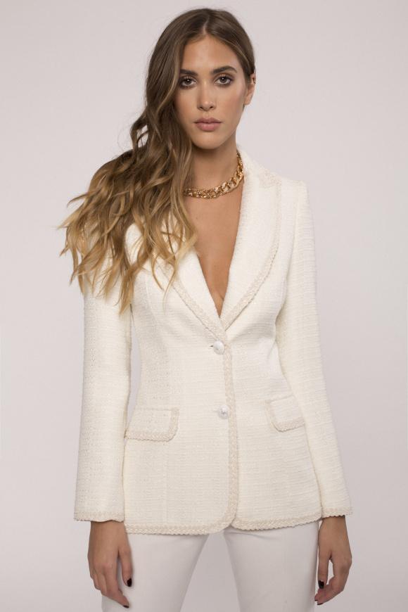Viscose tailored suit jacket