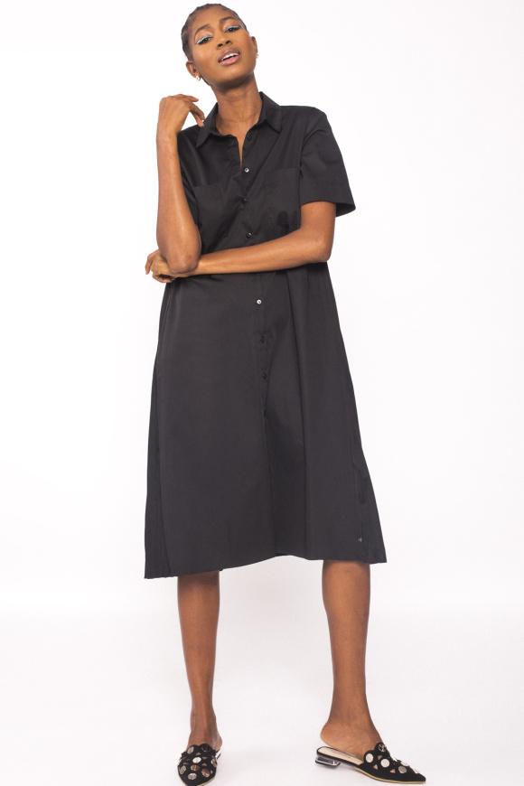 Cotton-poplin shirt-dress