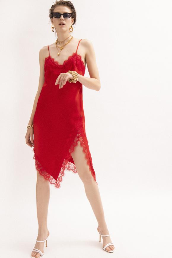 Lace trim slip dress