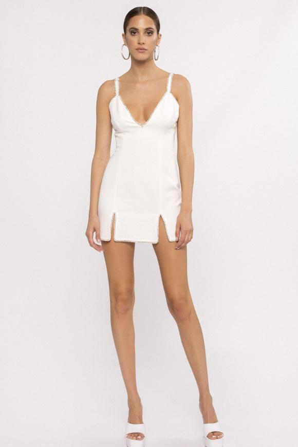 Crystal-embellished mini dress