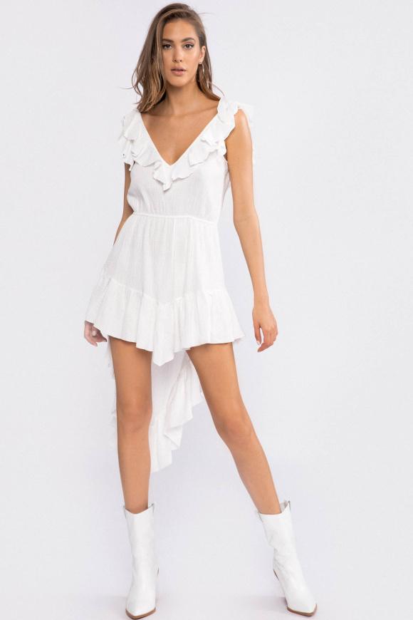Open-back cotton dress