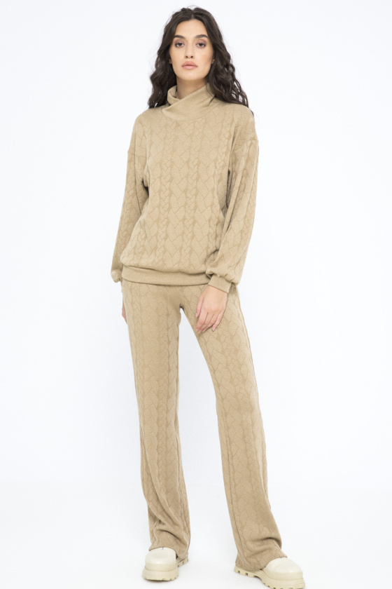 Knit flared pants