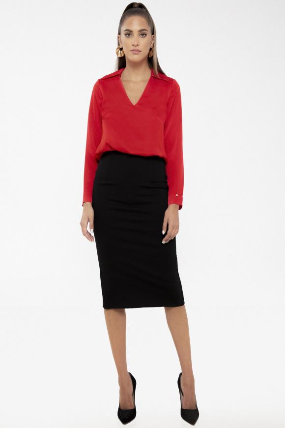 Zipped pencil skirt