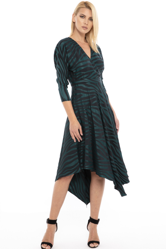 Zebra-print viscose dress