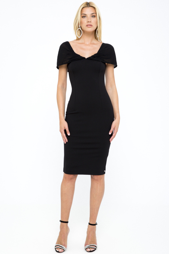 Fitted viscose dress