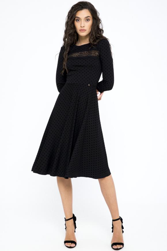 Polka-dots viscose dress