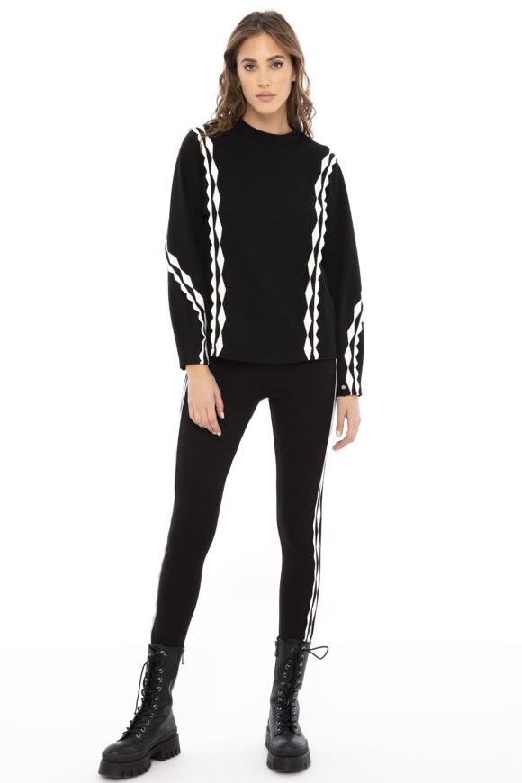 Contrasting-panel sweatshirt