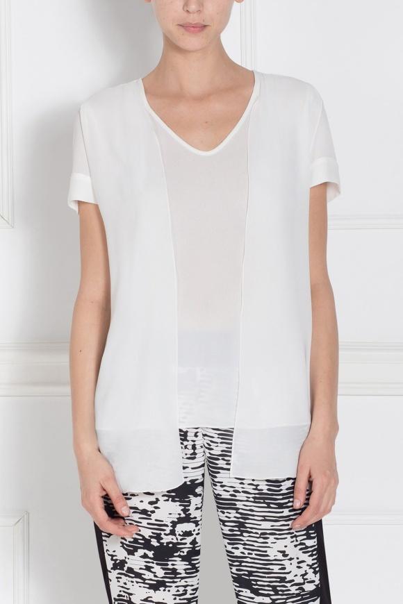 Asymetryczny biały top