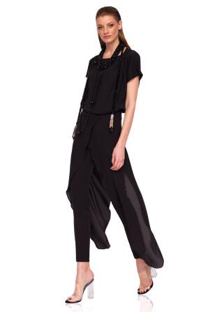 Eleganckie spodnie z marszczoną tkaniną