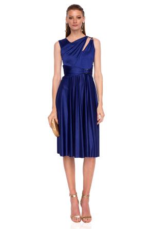 Sukienka midi z odkrytymi ramionami