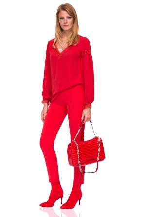 Eleganckie spodnie z bocznym paskiem