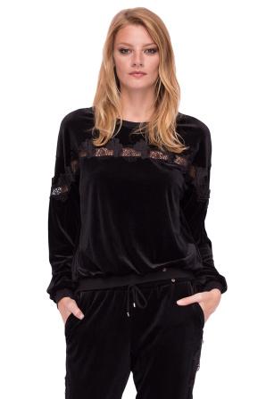 Aksamitna bluzka z długimi rękawami