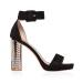 Eleganckie sandały z błyszczącymi obcasami