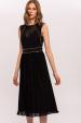 Sukienka z metalowymi detalami