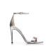 Stylish silver sandals