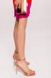 Metallic heel sandals