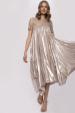 Haftowana plisowana sukienka
