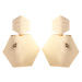 Geometrical shaped metallic finish earrings