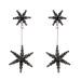 Crystal embellished star drop earrings