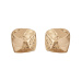 Metallic stud earrings