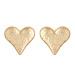 Heart shaped textured earrings