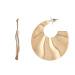 Textured shell earrings