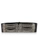 Metallic detail leather belt