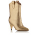 Metallic effect ankle boots