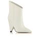Detachable detail leather ankle boots