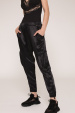 Satin effect cargo pants