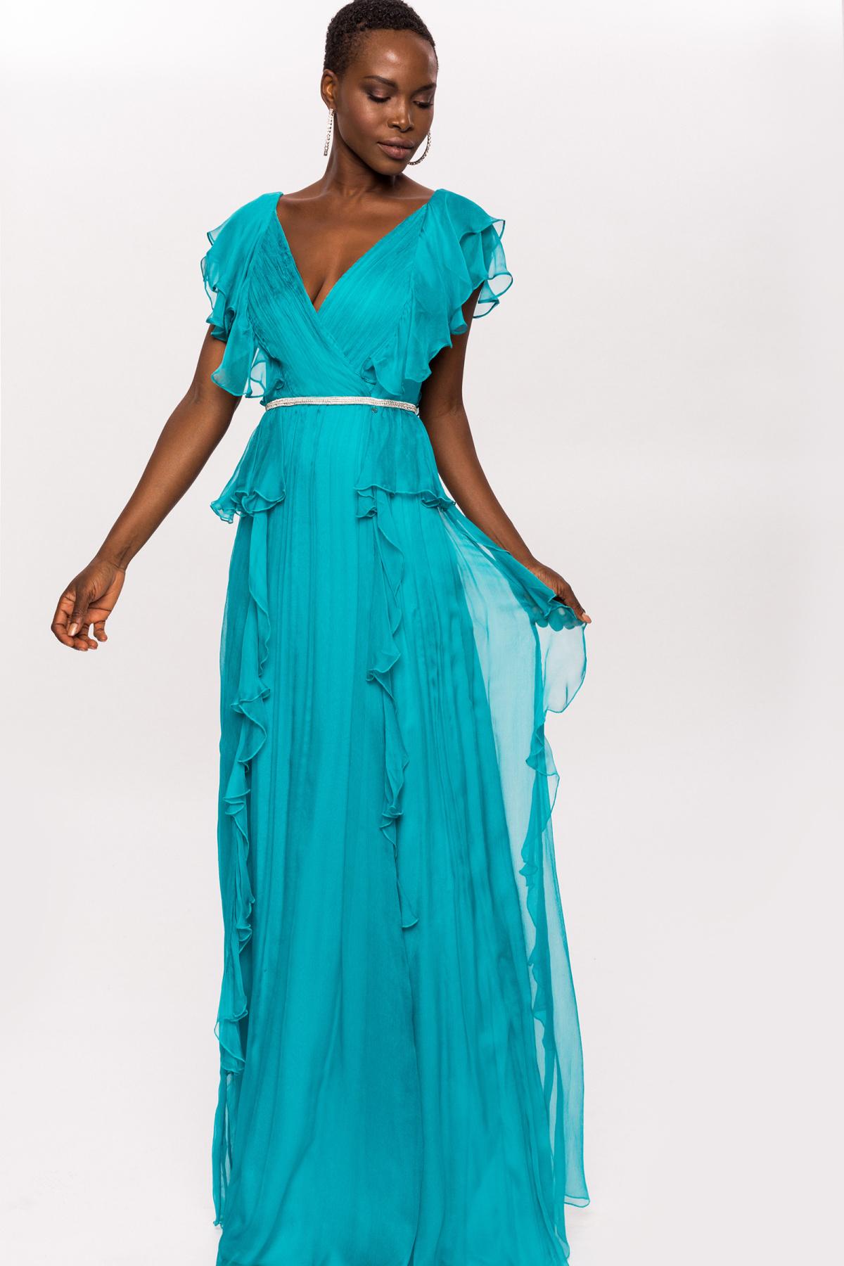 78f6008684 Jedwabna suknia wieczorowa