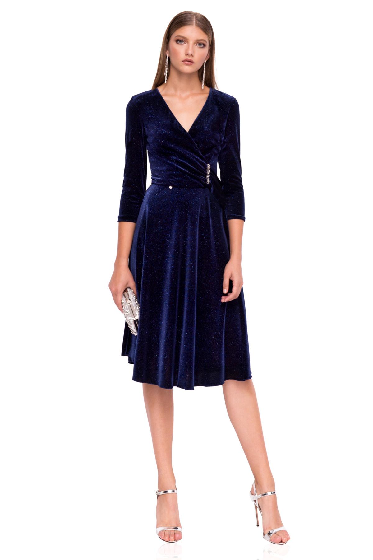 Aksamitna sukienka midi | rs10057 | NISSA