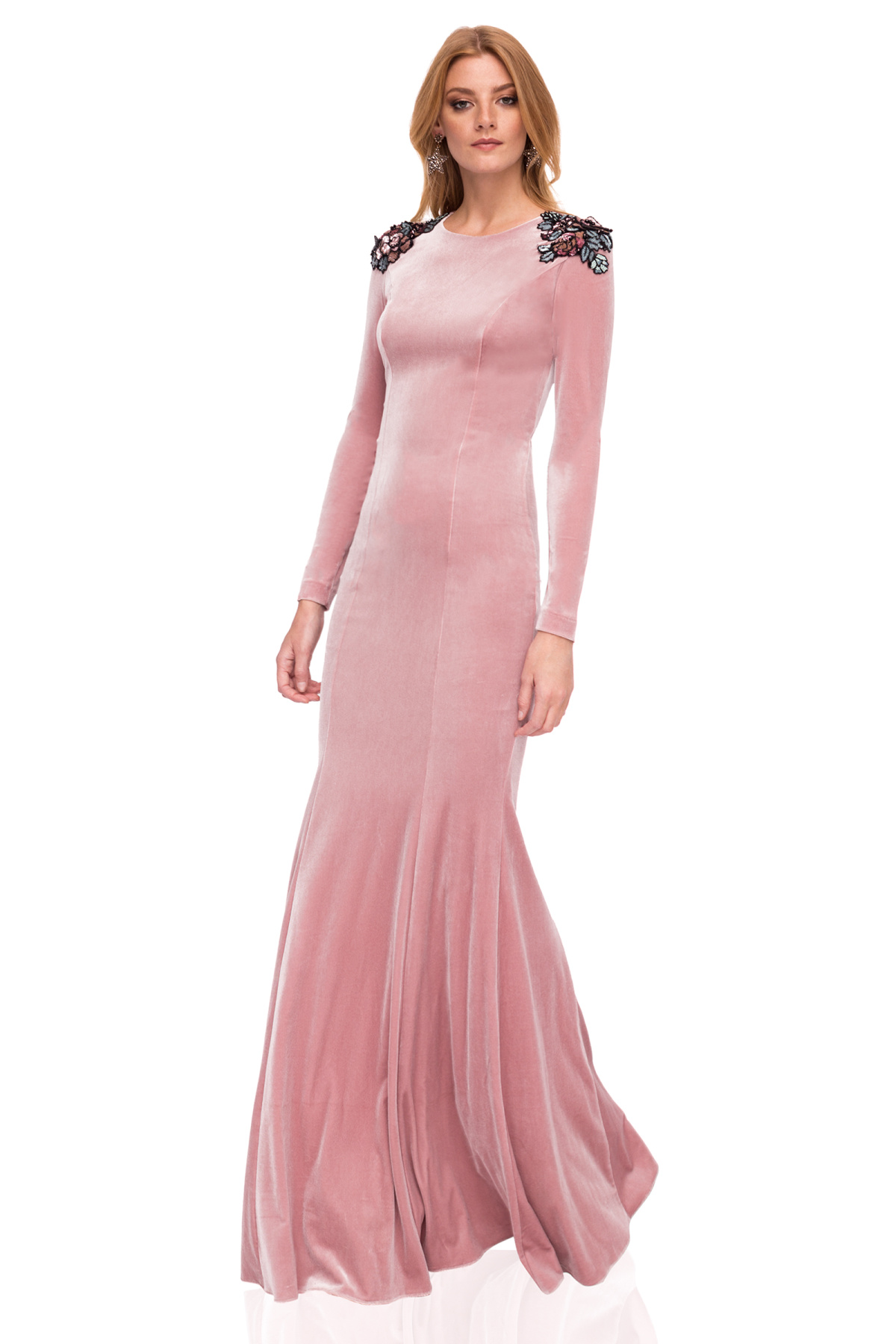 06a3ad0e824959 Elegancka aksamitna sukienka maxi   rs10161   NISSA